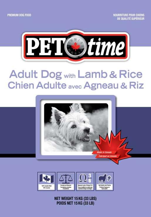 Pet Time Lamb & Rice 15kg