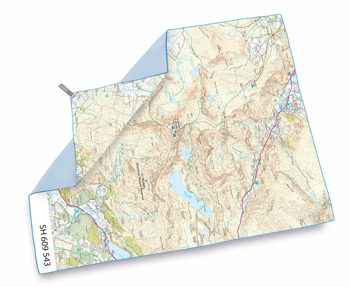 UK SoftFibre OS Map Towel - Giant (Snowdon)