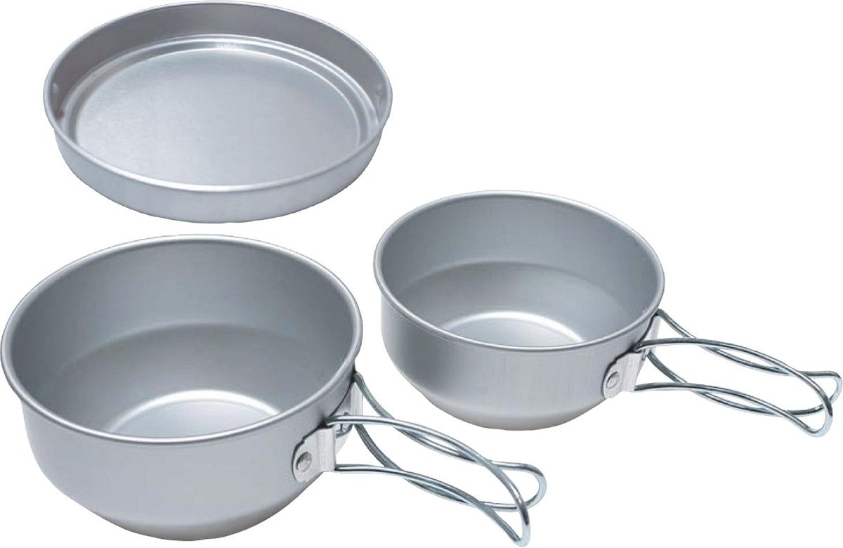 日本鋁製套鍋 - 3 Mess Kit-Aluminum (Cookset)