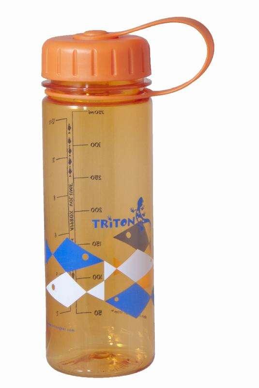 Triton  BPA-FREE Eco Bottle Slim 350ml, Orange Fish