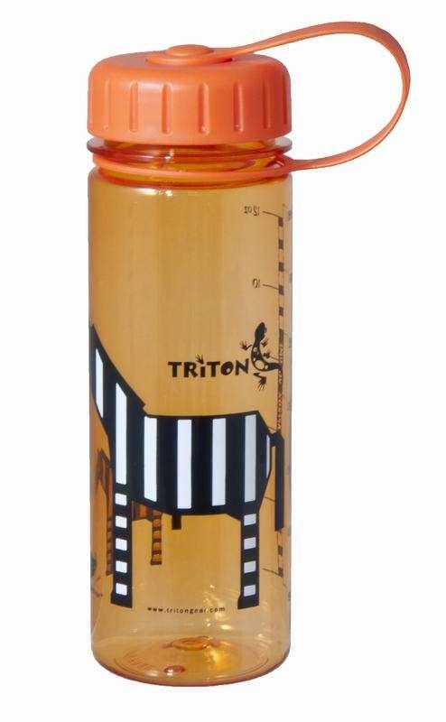 Triton  BPA-FREE Eco Bottle Slim 350ml, Orange Zebra