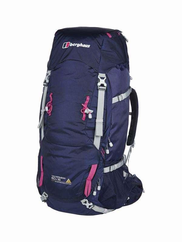 UK Backpack WILDERNESS 60+15 GLD RUCSAC AF DKBLU/PNK