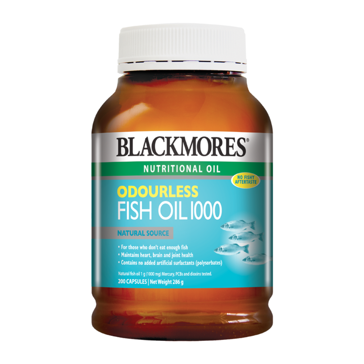 Odourless Fish Oil 1000 200 Capsules