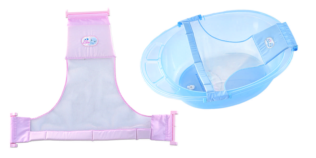 調整型沐浴網 (藍色)