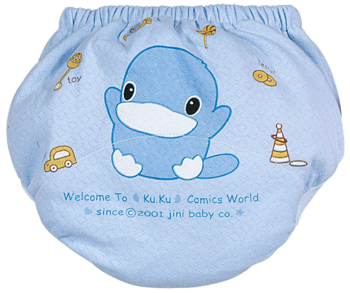 寶寶薄練習褲 (藍色) - 中碼