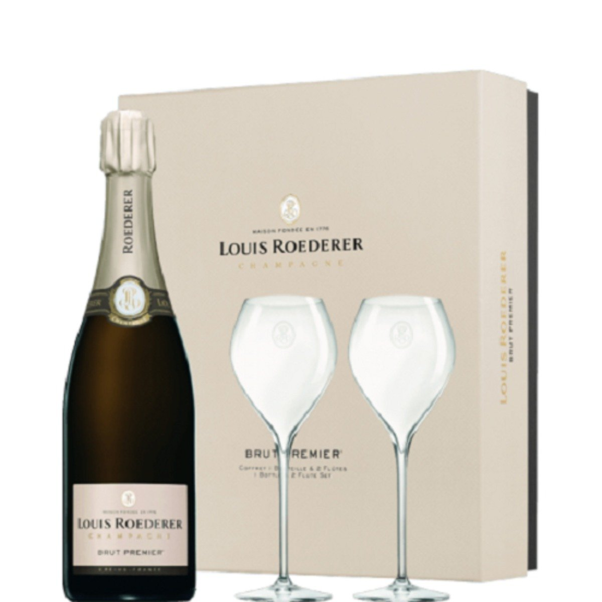 Louis Roederer Brut Premier Gift Box with Glasses