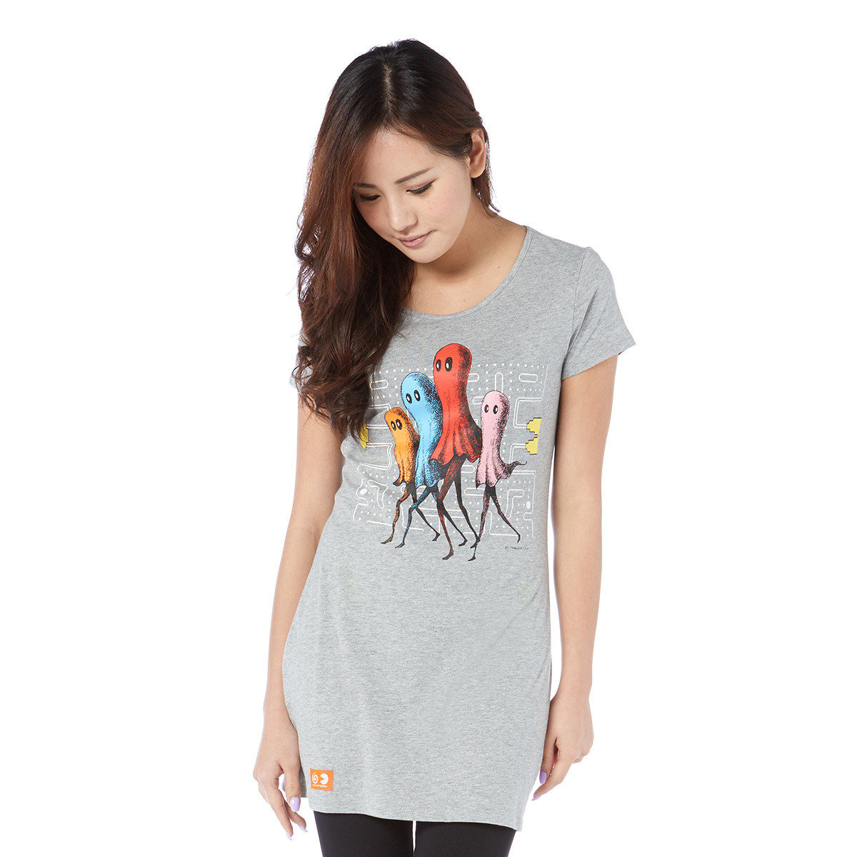 Ginger x Pac-man x Skittles local artists collaboration, Lady Slim Long Tee
