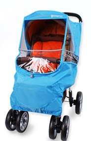 Blue Stroller Weather Shield Cover