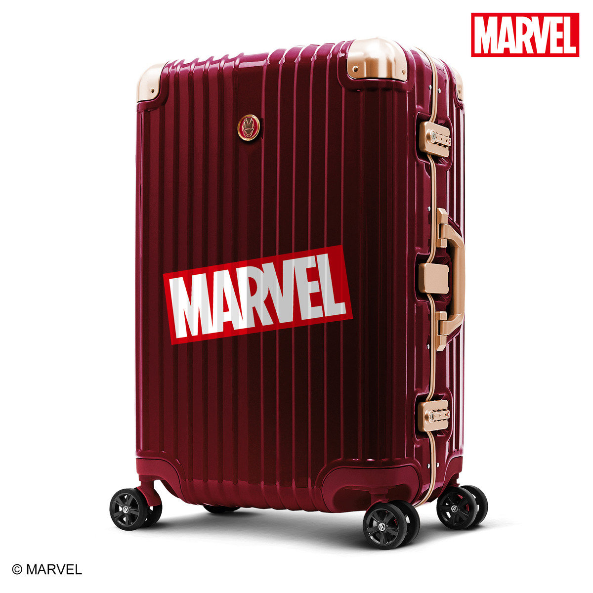 "Avengers IRON MAN 29"" Aluminum Frame Luggage(Licensed by Disney)"