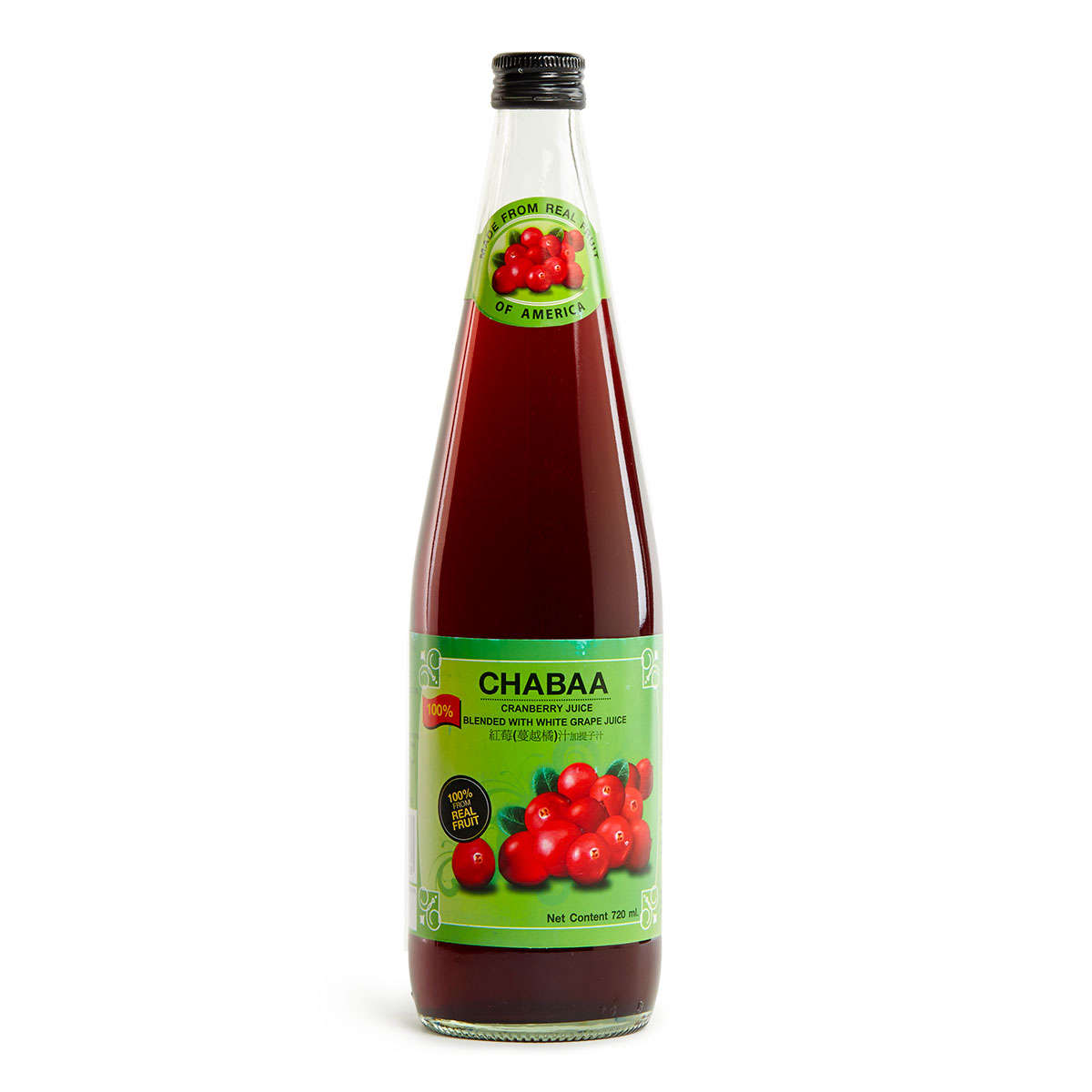 CHABAA 100% Cranberry mixed Grape Juice 720ml x 12/set