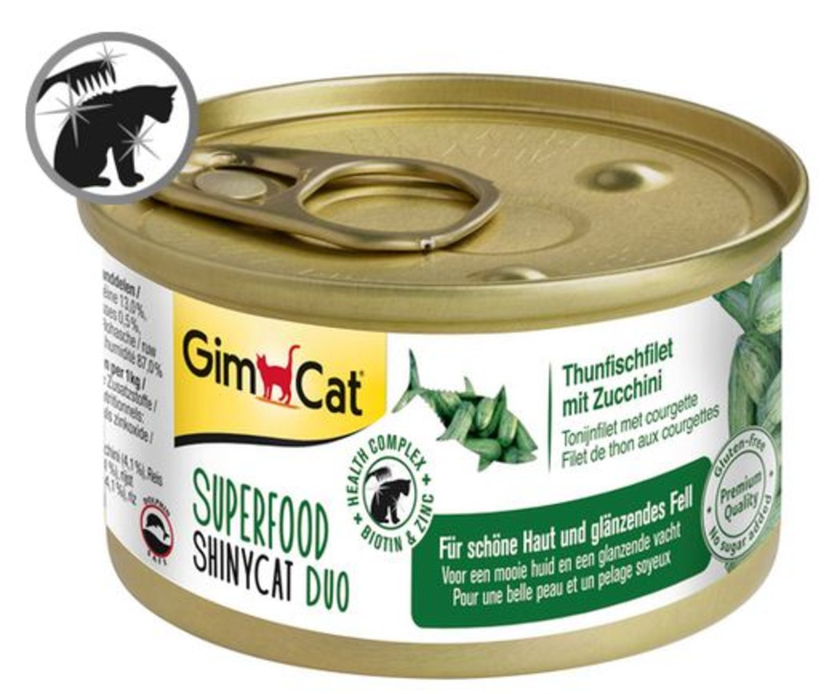 SHINYCAT SUPERFOOD DUO TUNA FILLET WITH ZUCCHINI 70G