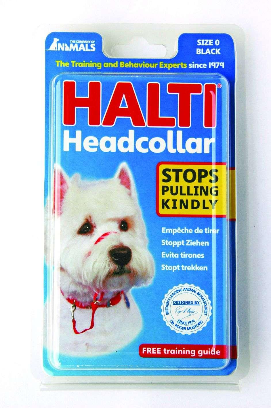 HH012 HALTI Headcollar size 0 - BLACK