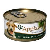 Applaws Chicken Fillet, Beef Liver& Vegetables 156g