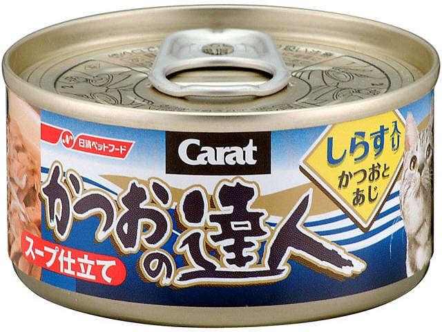 達人-鰹魚加白飯魚貓罐頭80g