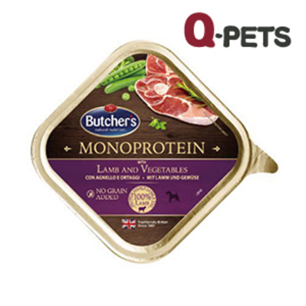 Butchers Monoprotein with Lamb n veg 150g