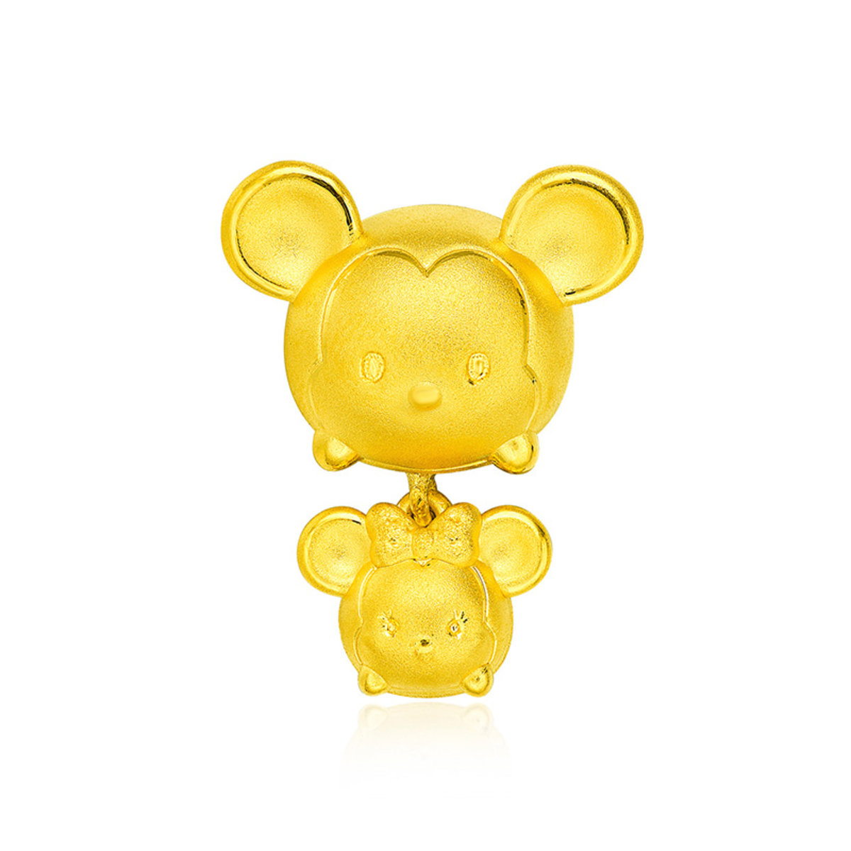 Disney Tsum Tsum Collection: Mickey Mouse & Minnie Mouse 999 Gold Pendant