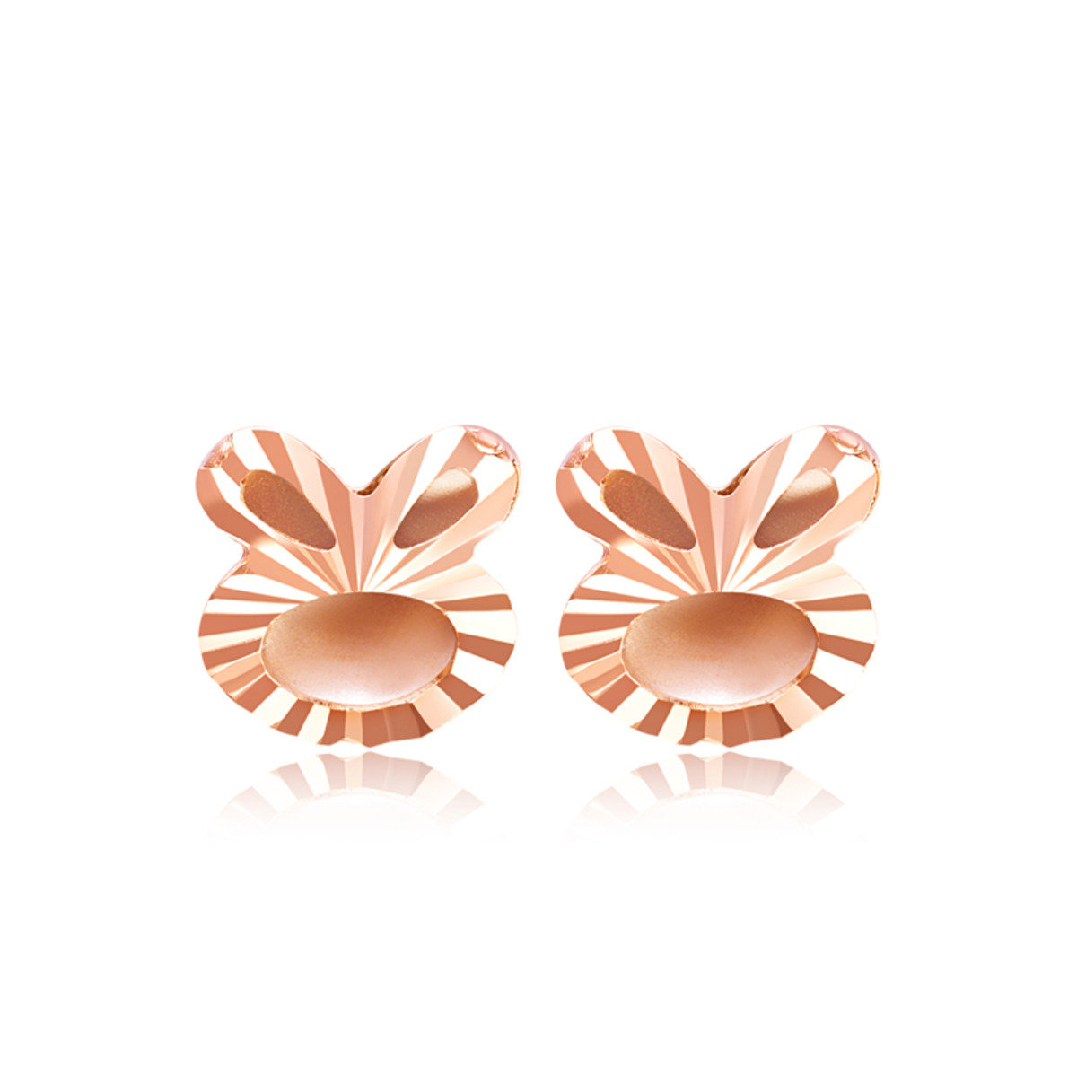 18K/750 Rose Gold earrings