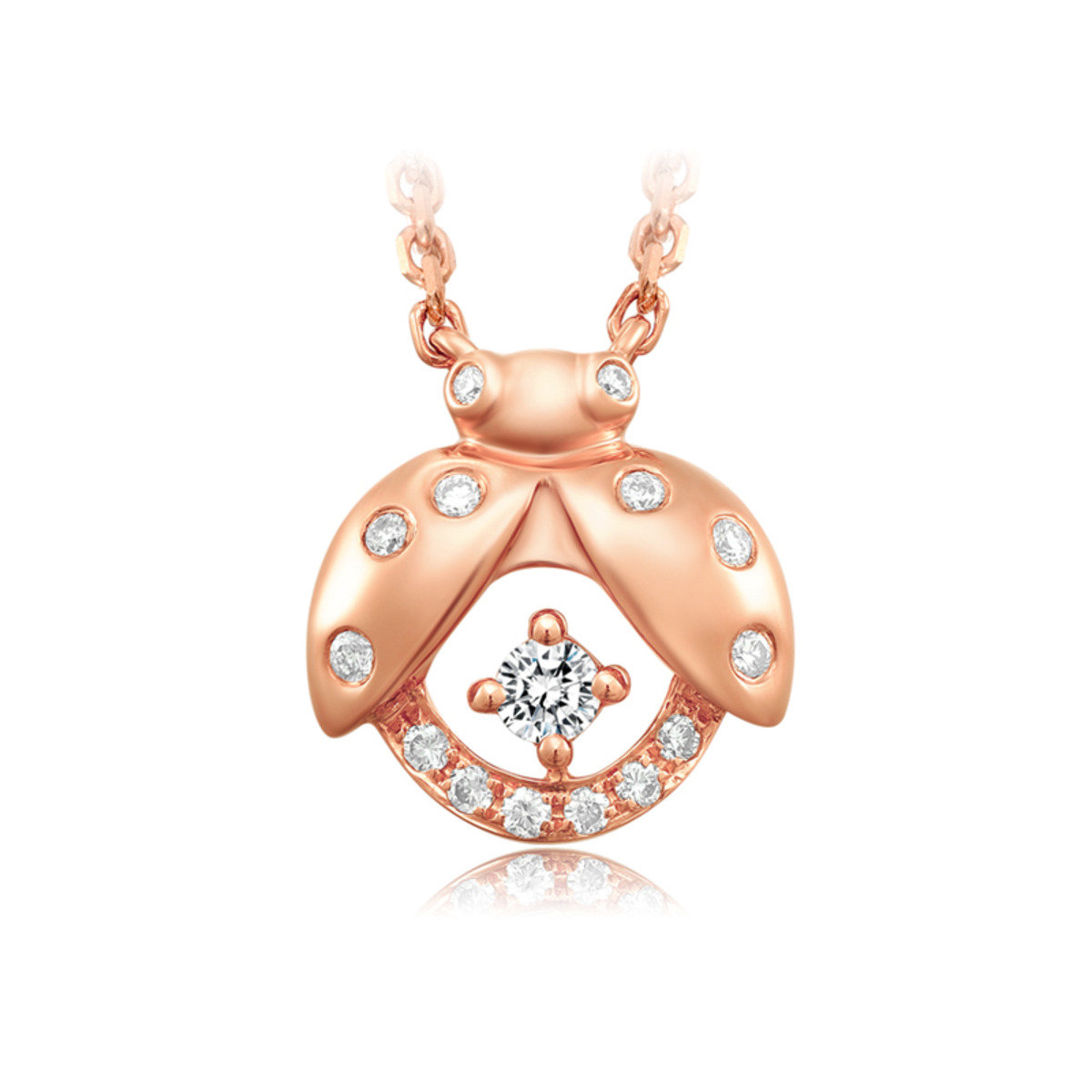 18K/750 Rose Gold Diamond Necklace