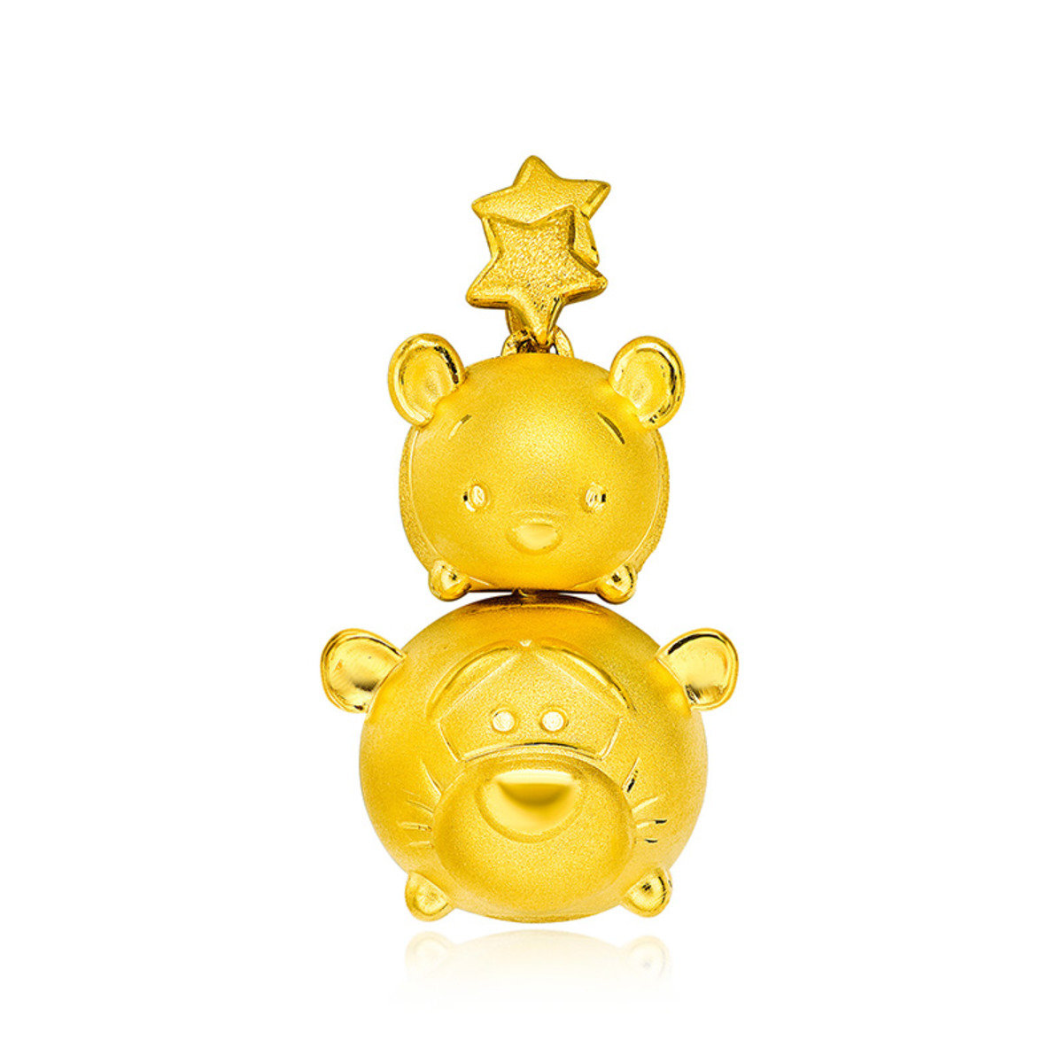 Disney Tsum Tsum Collection: Winnie the pooh & Tigger 999 Gold Pendant