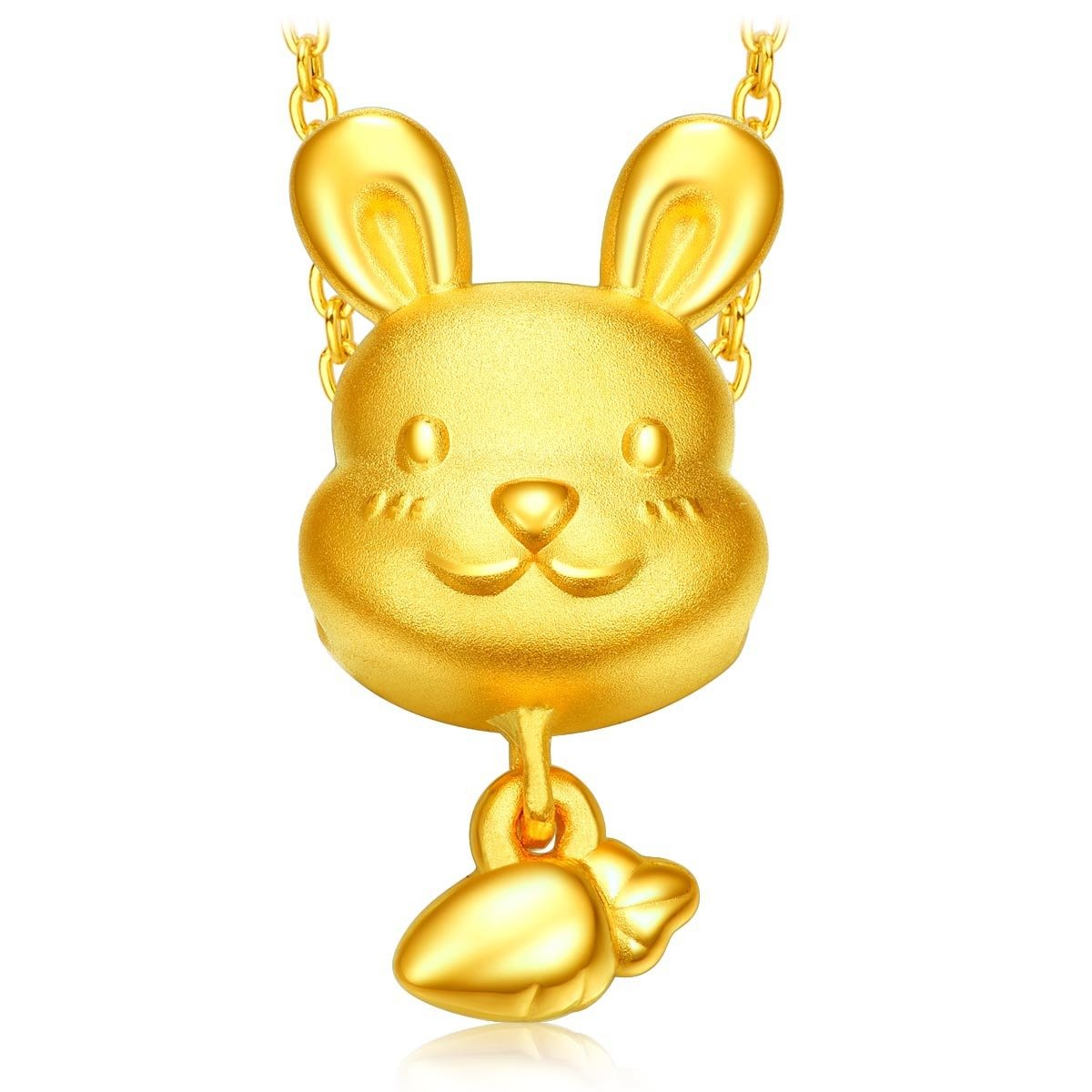 12 Animals of the Chinese Zodiac:Rabbit 999 Gold Pendant