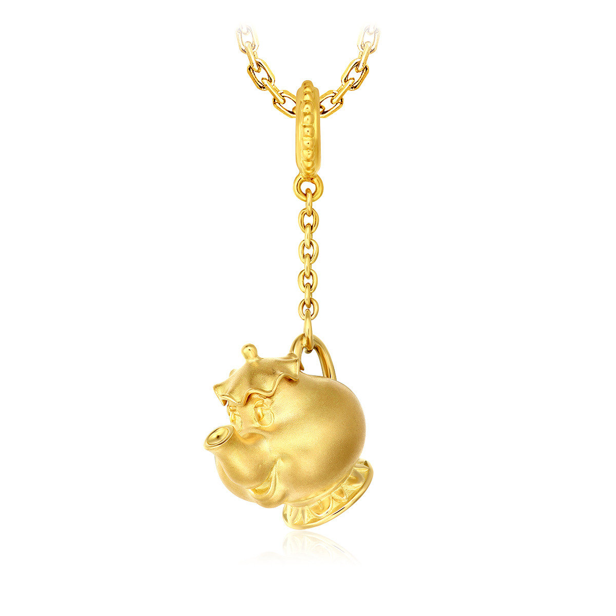 Disney Beauty & the Beast: Mrs. Potts 18K/ 750 Yellow Gold pendant