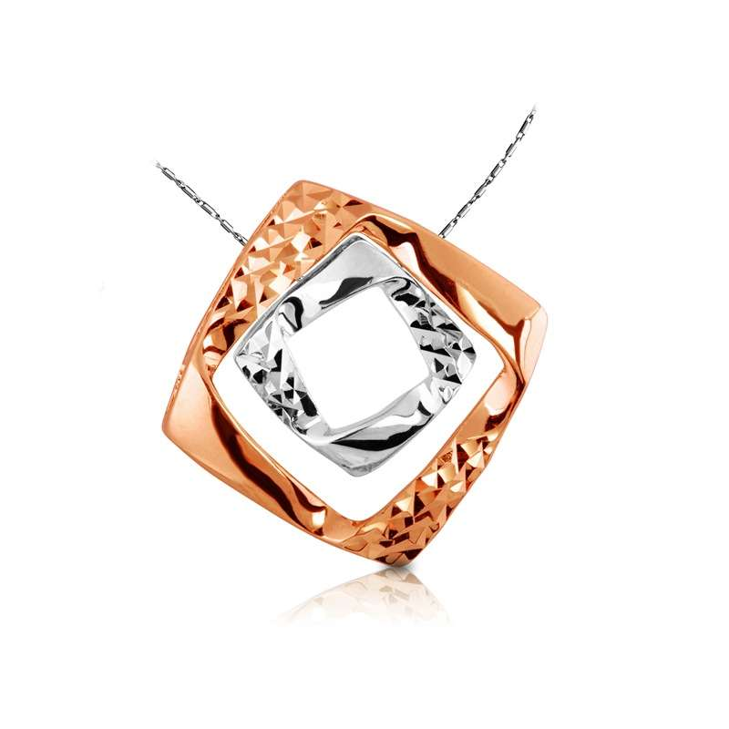 18K/750 Rose/White Gold pendant