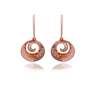 18K/750 Rose Gold Diamond Earrings