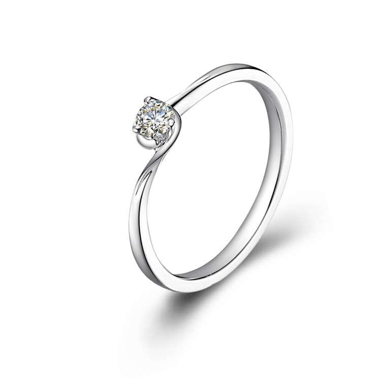 18K/750 White Gold Diamond Ring