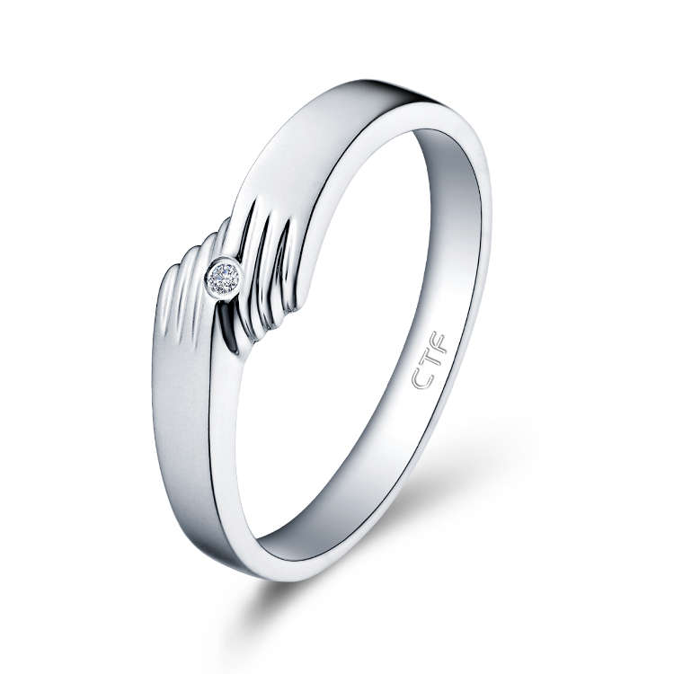Platinum PT950 Diamond Ring