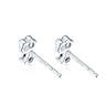 Bridal Collection:18K/750 White Gold Diamond Earrings