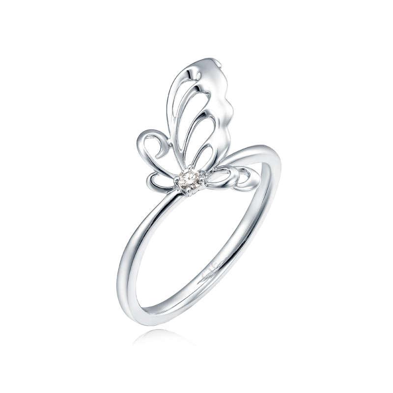 Disney Princess collection 18K/750 White Gold Diamond Ring