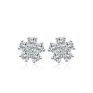 Chow Tai Fook   18K/750 White Gold diamond earrings