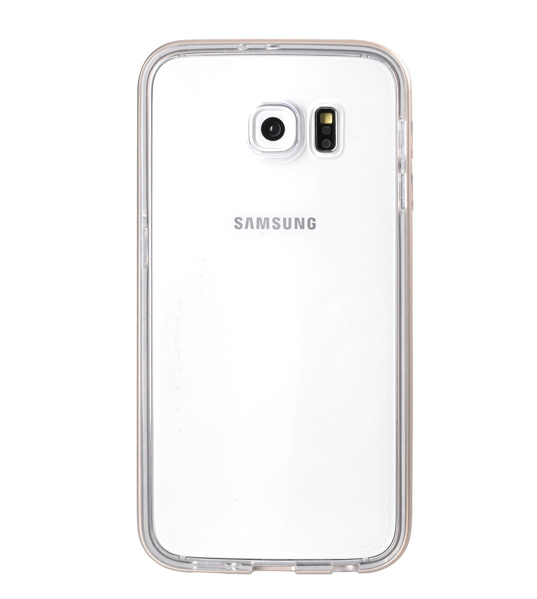 Dual Layer Pro for Samsung Galaxy S6 - Metallic Gold (With Tempered Glass)