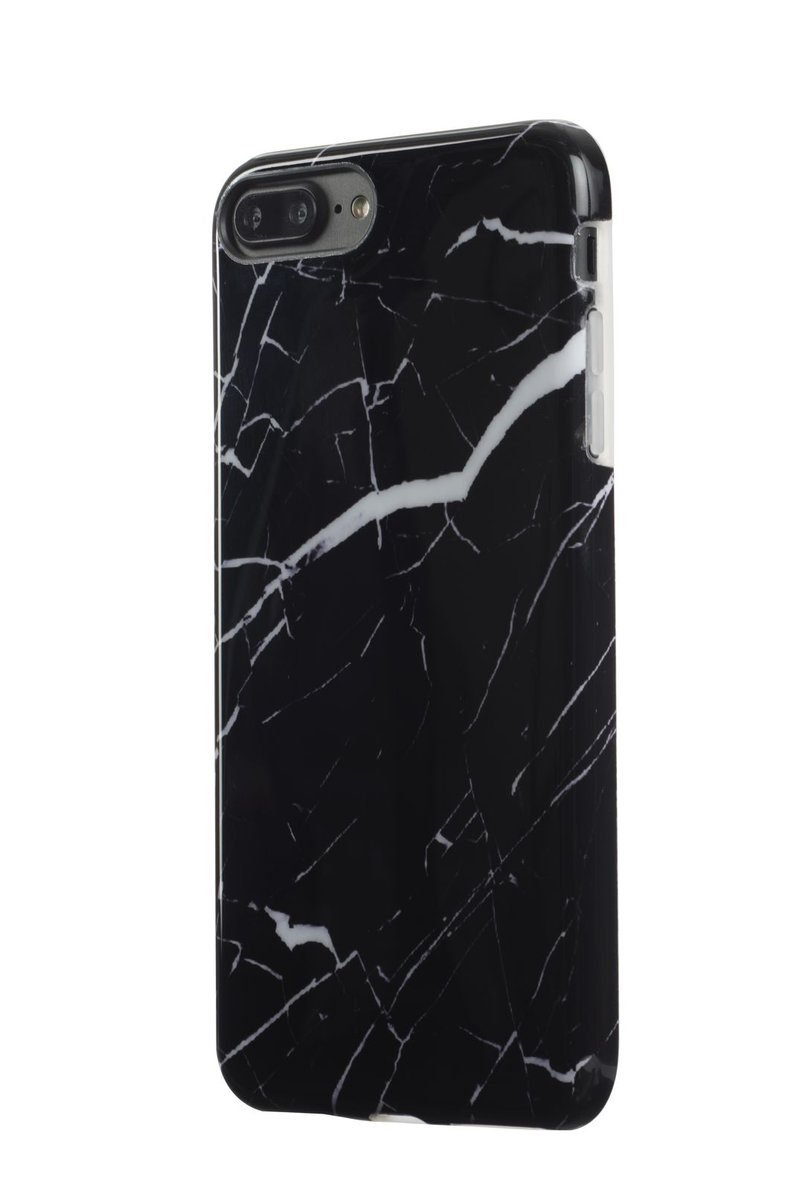 iPhone 8 Plus / 7 Plus Marble Jacket TPU Case ( Granite Black )