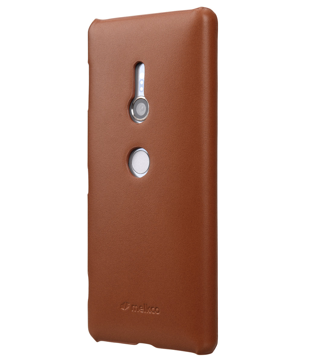Sony Xperia XZ2 Cow Leather Snap Cover - Brown