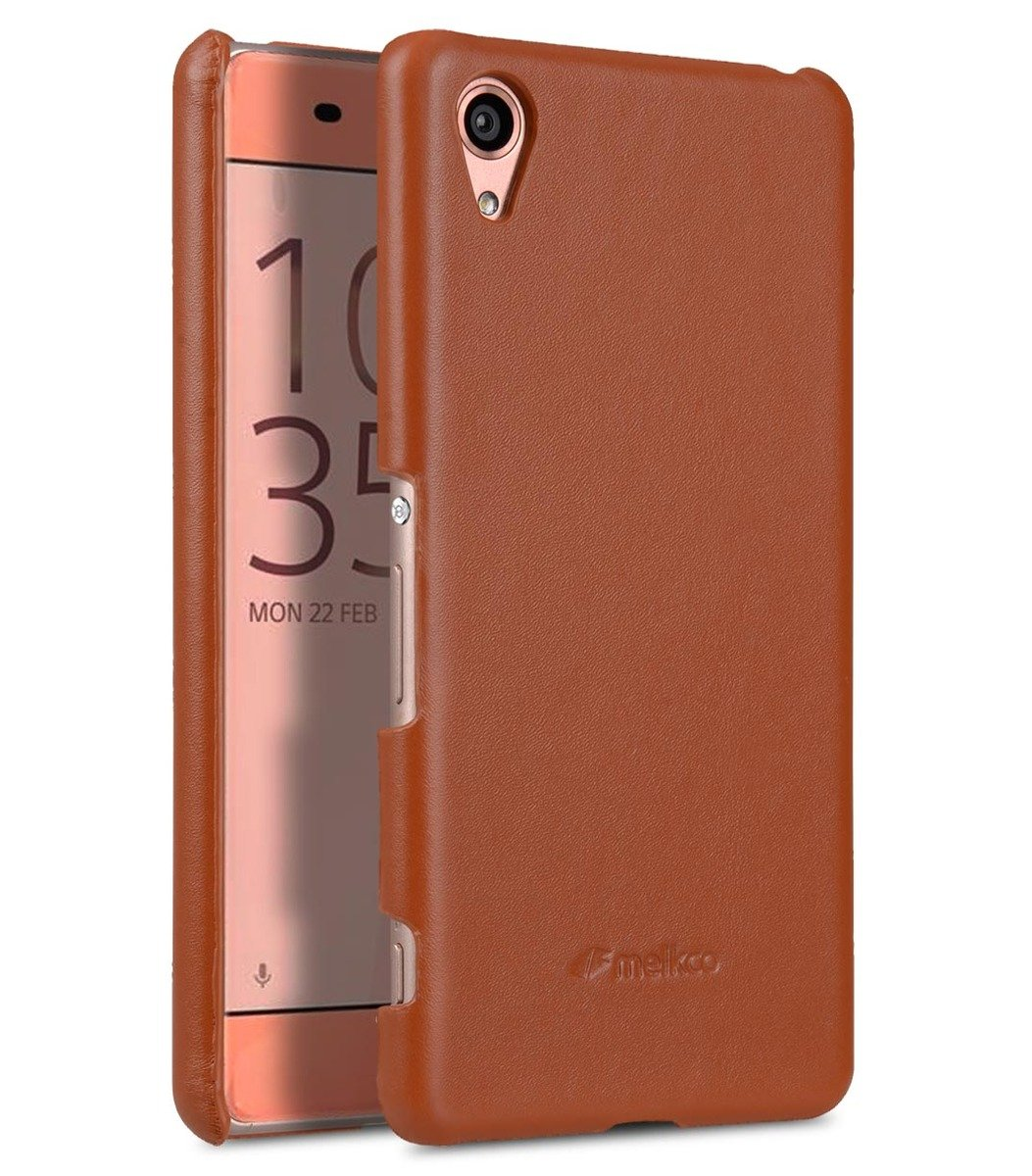 Sony Xperia XA Melkco Premium Genuine Leather Snap Cover-Traditional Vintage Brown