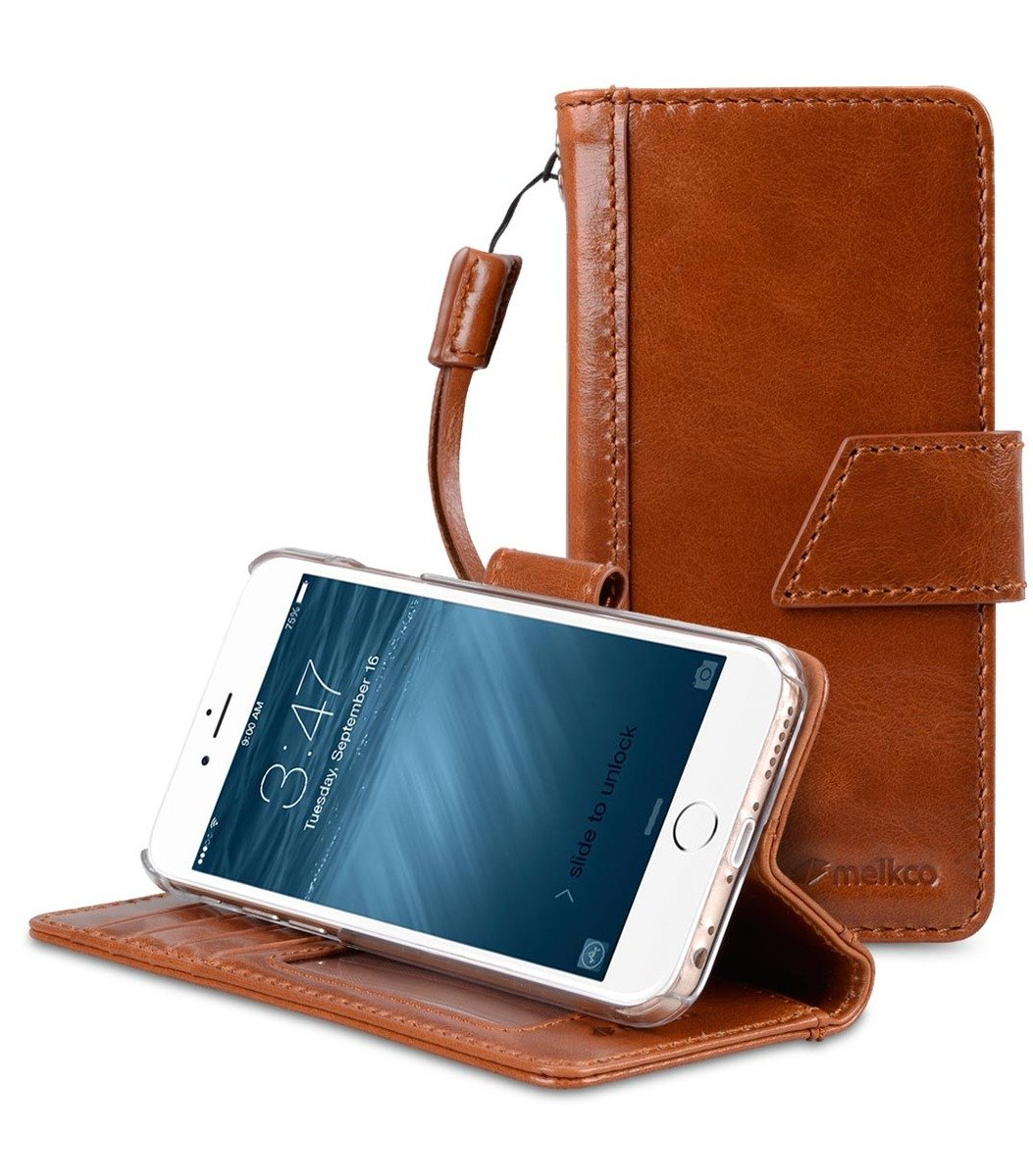 Apple iPhone 8 / 7 Kingston Style Premium Italian Wax Leather Case (Brown)