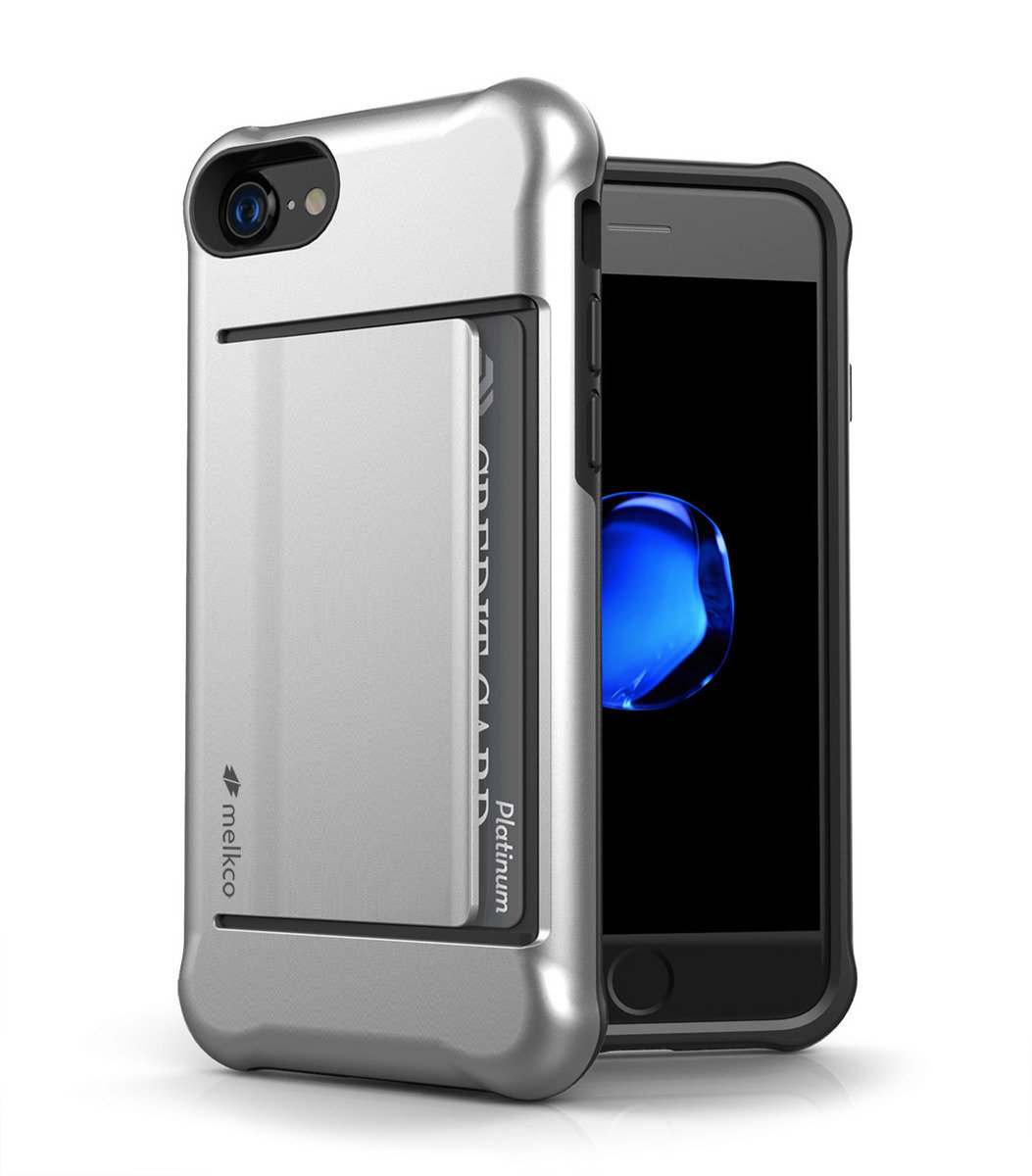 Apple iPhone 8 / 7 Kubalt Series Halo Layer Case (Silver)