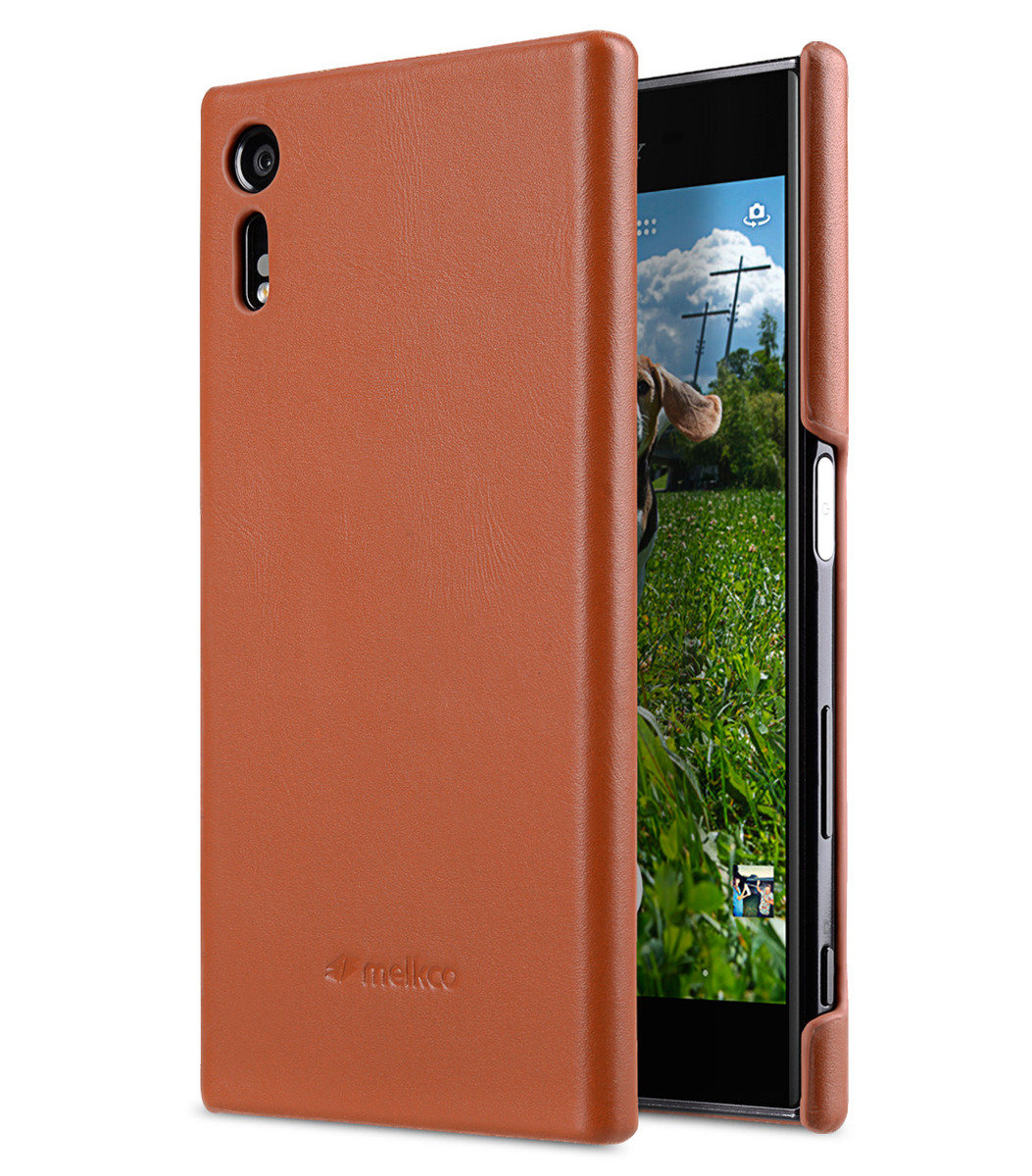 Sony Xperia XZ Premium Leather Snap Cover (Brown)