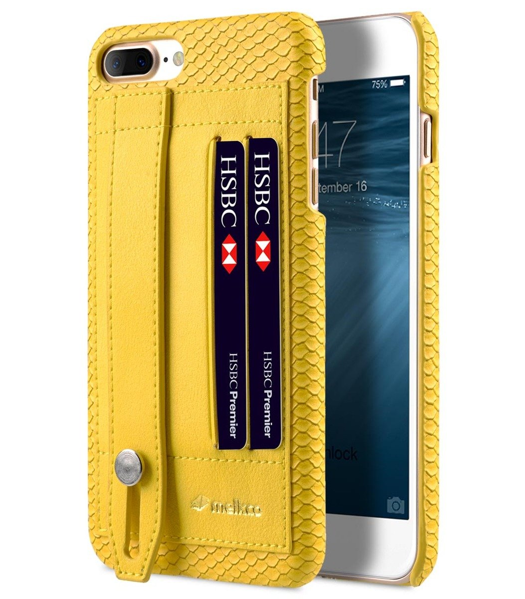Apple iPhone 8 Plus / 7 Plus Python Skin Series Leather Case (Yellow)
