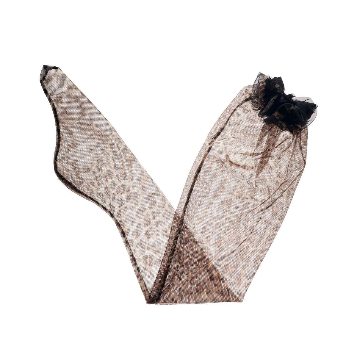 Leopard-print Lace Stocking