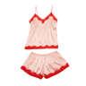 Maison Lace-trimmed Silk-blend Satin Camisole Set