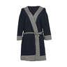 Navy Trimmed Stretch-jersey Kimono
