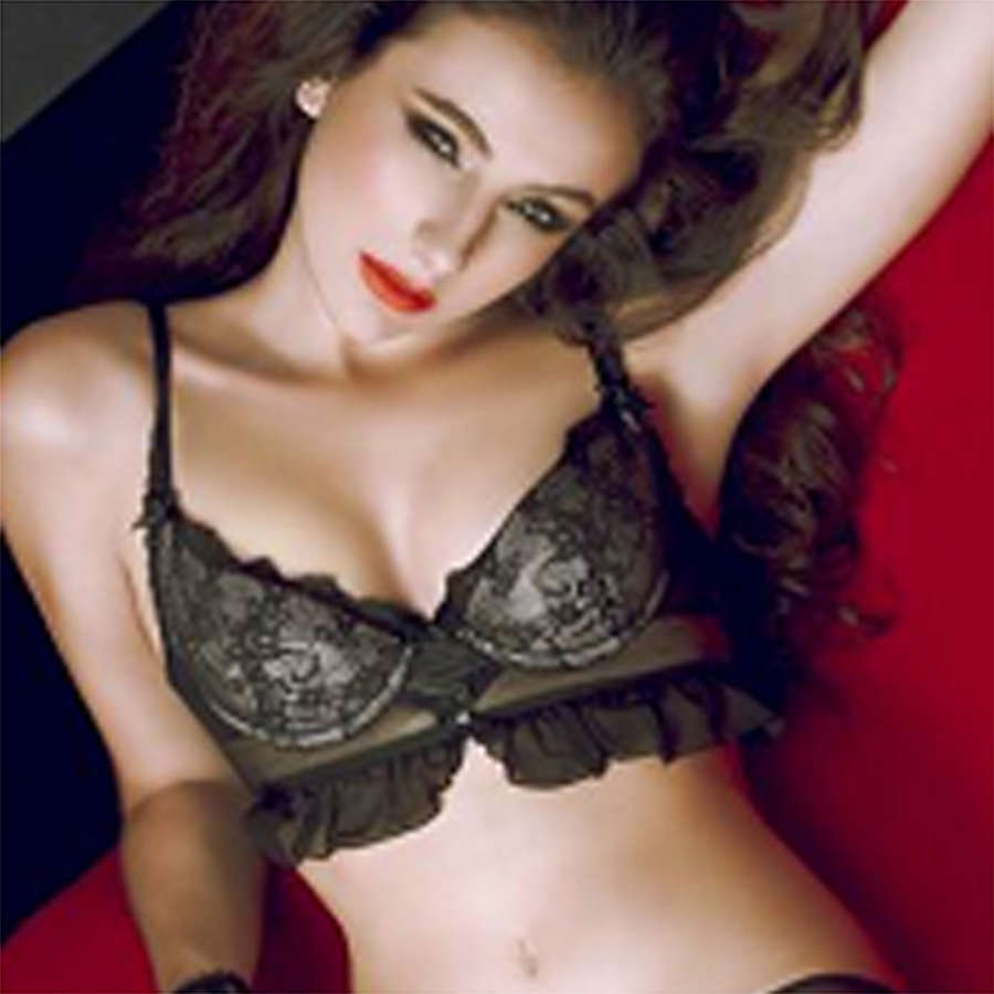 Floral-lace Longline Underwired Padded Bra