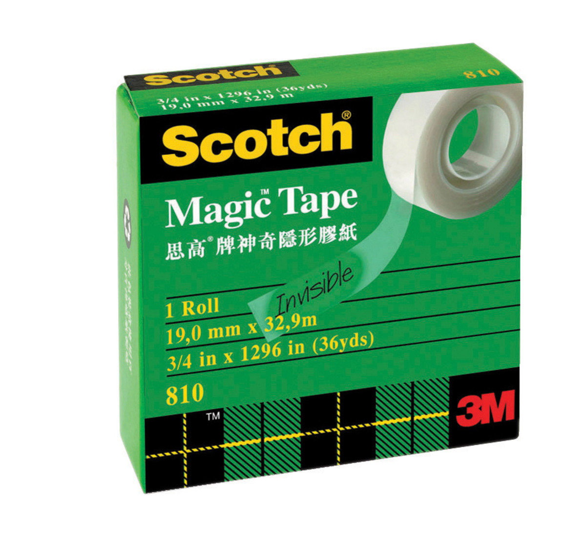 "810 Magic™ Tape, Boxed 3/4"" x 36 yds"