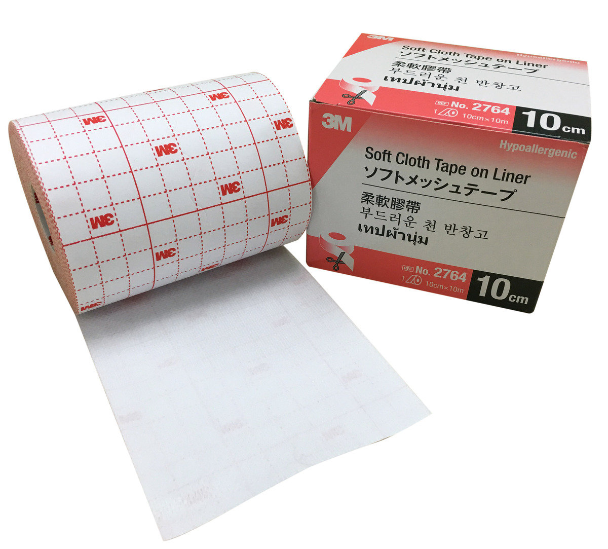Soft Cloth on Liner Adhesive Dressing 4""