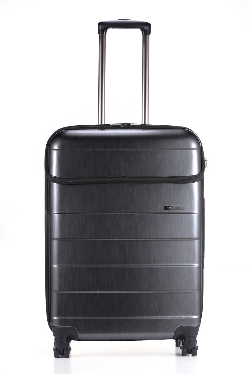 "Lyon Collection 24"" Suitcase Brushed Chrome"
