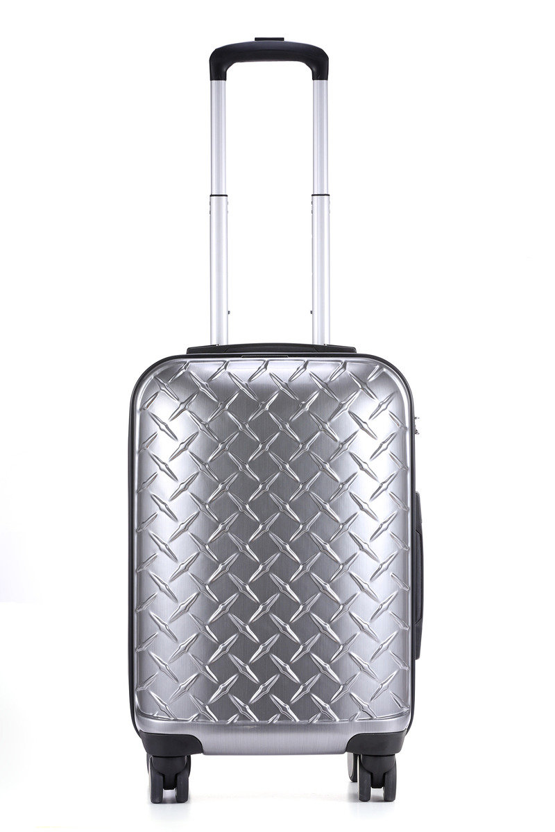 "Lille Collection 20"" Suitcase Brushed Platinum"