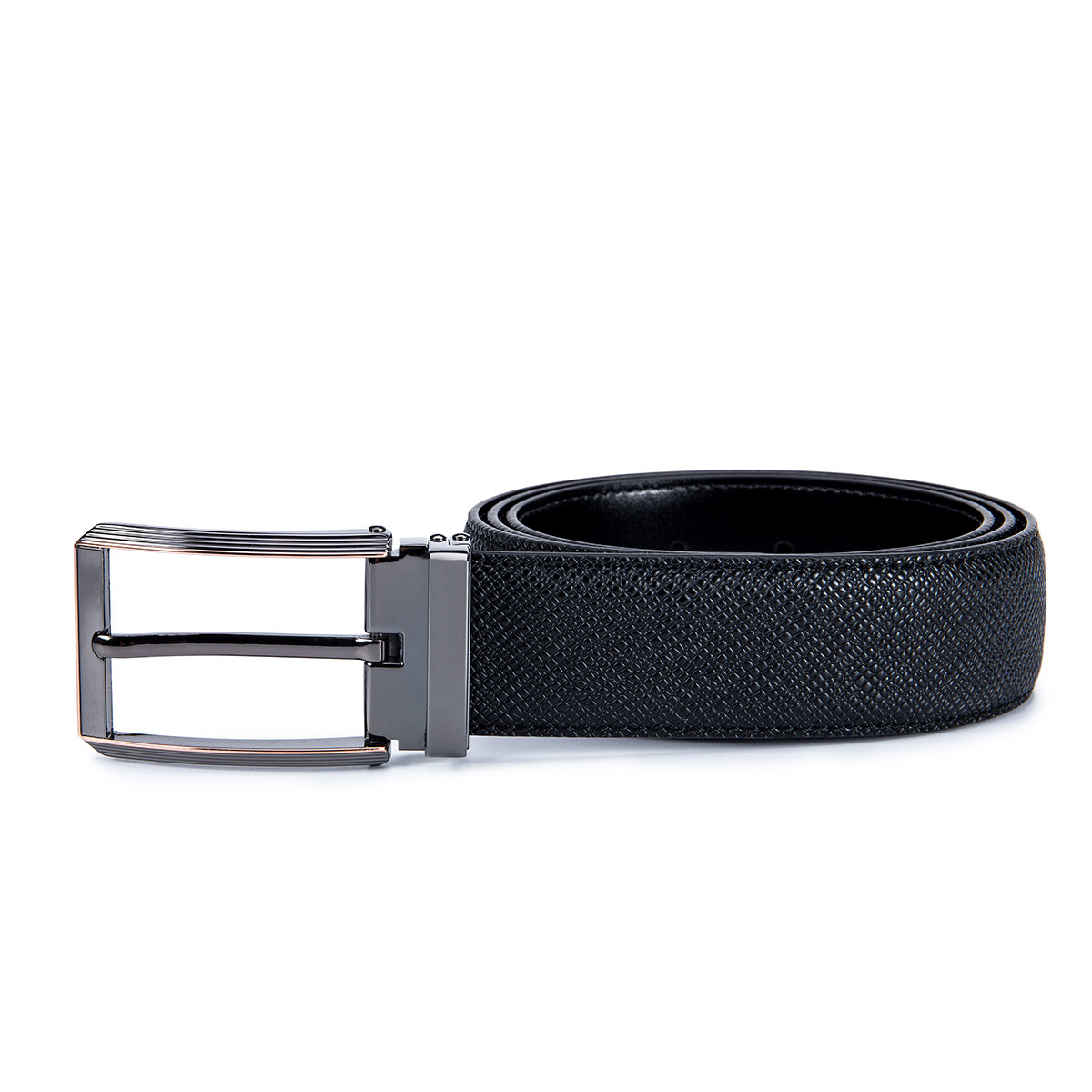Deluxe Two Tones Saffiano Leather Belt