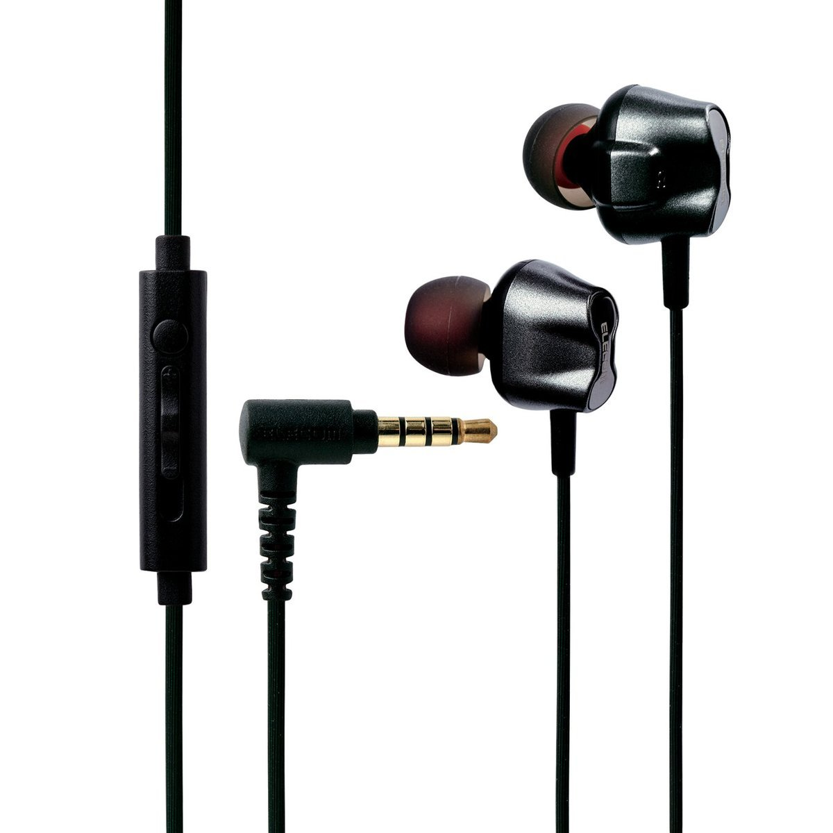 Earphone with microphone+volume control/Dual Driver/Black